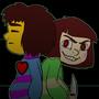 Frisk and Chara by RainbowDogma