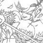 (older art) Godzilla Vs. Poison Ivy. by Schizophist