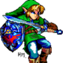 Link (Pixel Art) by HalfMilk