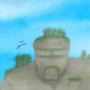 The giant sleepy Rock Golem by CosminGX