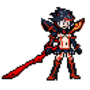 Ryuko fighting game sprite by morganstedmanmsNG