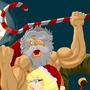 Epic Santa Kicking Ass by DarkPlot