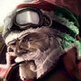Epic Santa Claus and his little helper by ParadoxArt