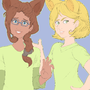 Athena and Pandora nekogirls by HOLIMOUNT2