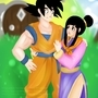 Goku and chichi by brittnidraws