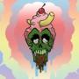Ice Cream Skull #01 - BG Variant #03 by zachpaulusart