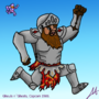 King Arthur, from Ghouls n' Ghosts, BeginnerNewResolution COTM DwJazza by LucasAlberdi