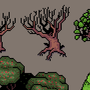 pixel trees by UltimoGames