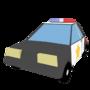 low poly Cop / police Car - Blender 3d by Skoobi