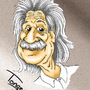 Caricature of Albert Einstein by Dobbinsky