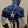 Acrylic Painting 003 - Captain America by MACGYVR