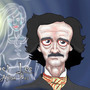 Annabel Lee - Edgar Allan Poe Caricature by Dobbinsky