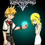 KH - Roxas and Namine by L4zyL30