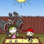 Little girl big weapon by DarkShadow8181