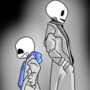 Sans and Gaster by clyde17