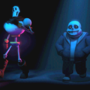 Papyrus & Sans Walking Around by WhiteWolfX4