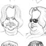 Random caricatures by sketchsumo