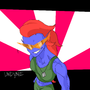 Undyne the Totally Radical Shark Babe by SuperGalaxyRider