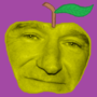 The Apple XXV: Robin Williams Apple by SuperUltraAusterity