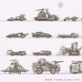Postapocalyptic vehicles by FASSLAYER