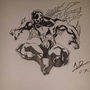 spiderman 2099 inked by artwithabraham