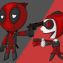 Deadpool and Harley Quinn - CrazyLove by thiagobm
