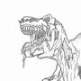 Zombie T-Rex by GluckamoBob