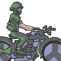 Army Bike - GIF by Wondermeow