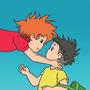 Ponyo Loves Sosuke by pickletoez