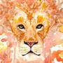 Watercolor- Lion by PopoCorno
