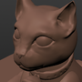 3D Kitty - My first 3D art ever by technotabbi