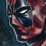 Deadpool acrylic sketch by bella-art