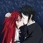 Sebagrell Kiss by Raven-Raine