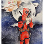 Deadpool x Harley Quinn by carlinesart
