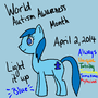 Autism Awareness Pony by NostalgicNerd94