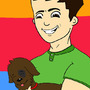 Me and one of my dogs, Guspacho by VaskoTheGreat