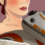 Rey and BB-8 by TheoreticalLobster
