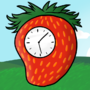 Strawberry Clock by Megacharlie159