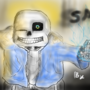 An Undertale Drawing: SANS by MrCreeperGeometryDas