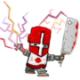 worn red castle crasher by ROFLCHOPPA