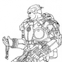 Marcus Phoenix Linework by Jcrown41