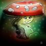 Happy Little Mushroom by W33B33