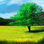 Landscape with a Tree by deafguitarist063