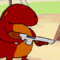 Salamander with a shotgun