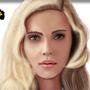 Scarlett Johansson Portrait by W33B33