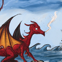 Dragon vs kitty by captainfrakas
