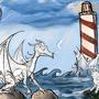 work in progress dragon vs kitten by captainfrakas