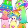 Colorful Mushroom Friends! by doublemaximus