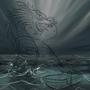 Dragon vs Kitten WIP by LordLampPost