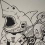 Legendary Cyborg Soldier Shark by gmorelli1139